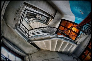 Stairways in the old houses of St. Petersburg, Russia