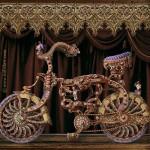 Gorgeous Medieval Knight's steel bike