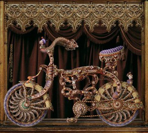 Gorgeous Medieval Knight's steel bike