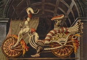 Fabulous Medieval Knight's steel bike