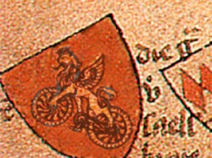 a fragment of the armorial of the XV century. Again, the same coat of arms