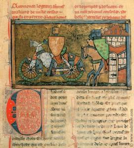 Medieval Knights steel bike from Chateau-Gaillard castle