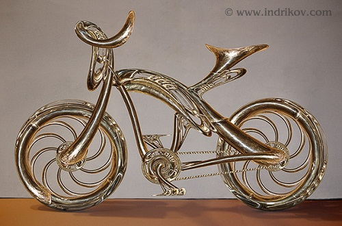 Beautiful Medieval Knight's steel bike