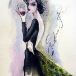 Female Elegance in paintings of Osetinian artist Fatima Tomaeva-Gabellini