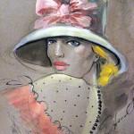 Female Elegance in paintings of Osetinian artist Fatima Tomaeva-Gabellini