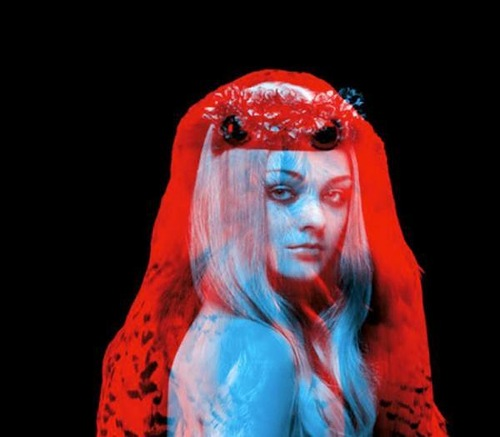 "Animal and human. Red and blue photography by French duo ""Helmo"" Thomas Couderc and Clement Vauchez"