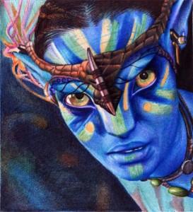 Avatar. Photo realistic drawing by Portuguese artist Samuel Silva