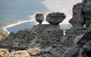 Impressive Lena Pillars along the banks of the river
