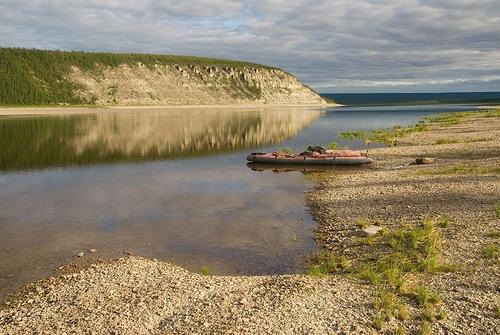 Coast of the river Olenyok