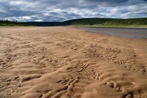 Sand beaches of the Olenyok