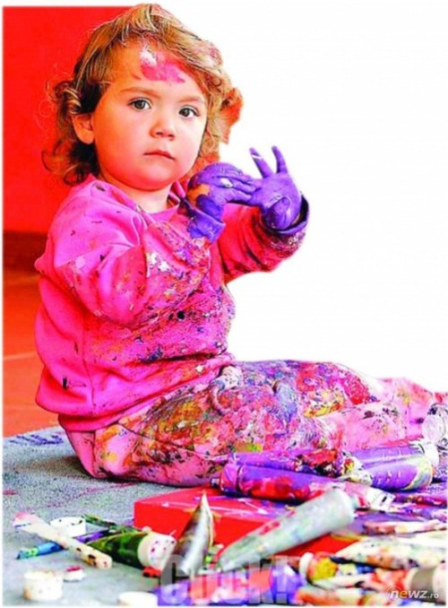 Aelita Andre abstract expressionism 5 year-old painter