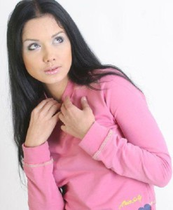 Brunette girl Anastasia Yagaylova