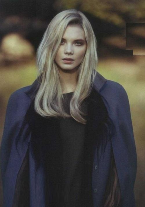 Blue-eyed blonde model Daria Zhemkova