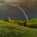 Landscape realistic painting by Yuri Arsenyuk