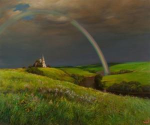 Rainbow on the Trinity, 2010, painting by Yuri Arsenyuk