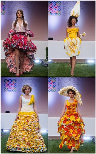 Unique fashion show in Moscow