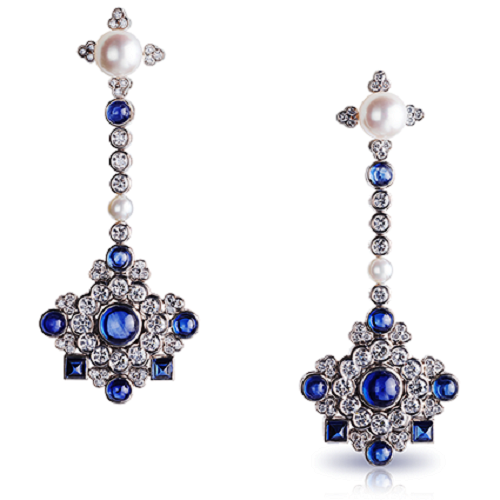 Dentelle de Perles Chandelier Earrings