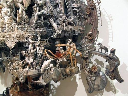 Details of Kris Kuksi sculpture