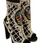 Decorated with exquisite embroidery women's boots. Faberge renaissance