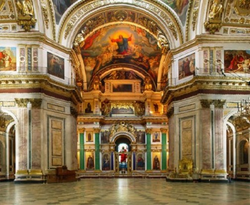 St. Isaac's Cathedral in St. Petersburg, Russia