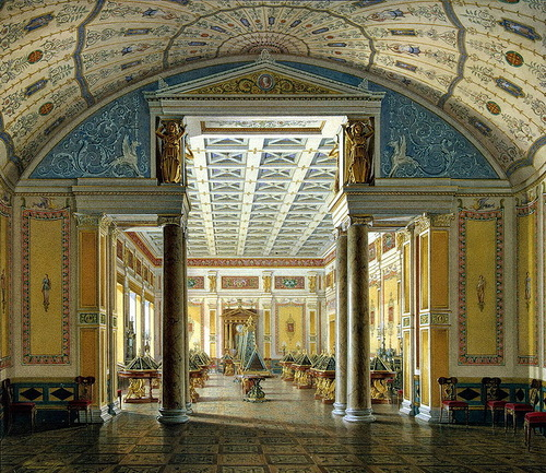 Edward P. Gau. halls of the New Hermitage. Hall of cameos, Hermitage