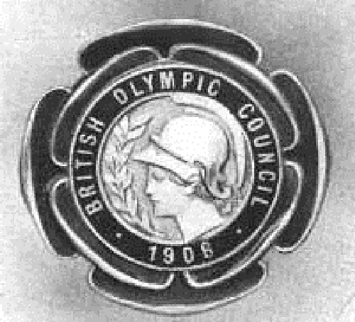 The badge of the 1908 British Olympic Council