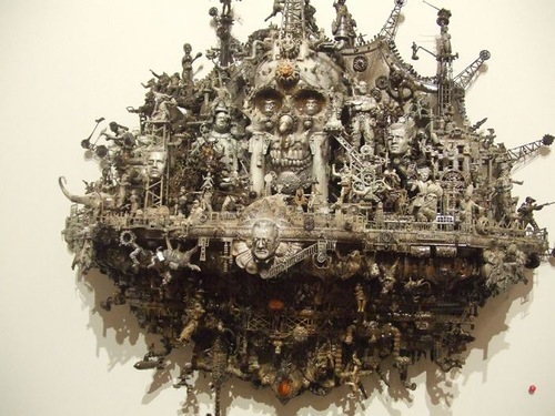 Race of Cain. Sculpture by American artist Kris Kuksi