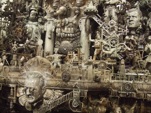 Detail of sculpture Race of Cain. Art by Kris Kuksi