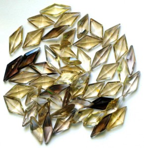 Polished stones for mosaic