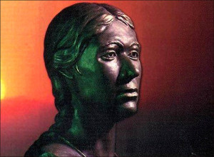 Reconstructed in sculpture Siberian Princess