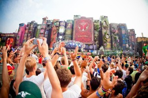 Gigantic fairy-tale book stage at Tomorrowland Festival in Belgium, July 27-29, 2012