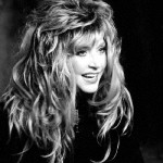 Black and white photo of Alla Pugacheva