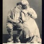 Grandfather and Grandmother. Actor Adashev and actress Savitskaya