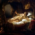 Danae by Harmensz Rembrandt van Rijn