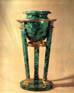 Vase-tripod. 1846 Ekaterinburg lapidary factory