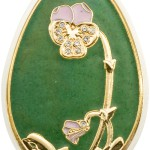 Big green egg coin, Cook Islands, 2010, $ 5, Silver 999, 20 g, size 30 * 43 mm, proof, Bohemian glass