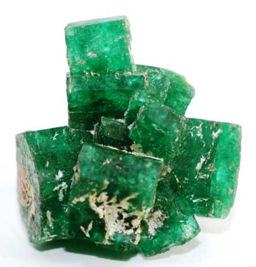 Emerald gems for mosaics