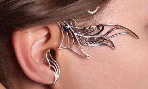 Silver tone Earcuff earrings