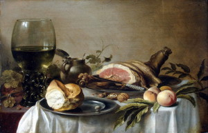 Pieter Claesz – Breakfast with ham