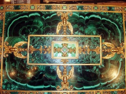 Table with Malachite Top
