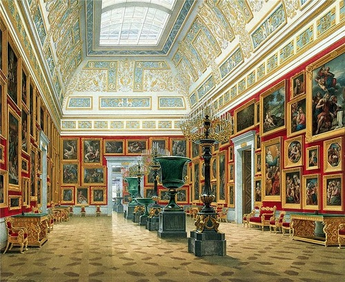 Walking through the halls of the Hermitage