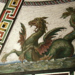 Dragon mosaics. Detail of interiors of the Small Hermitage