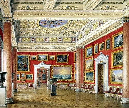 E.P.Gau. halls of the New Hermitage. Russian school hall