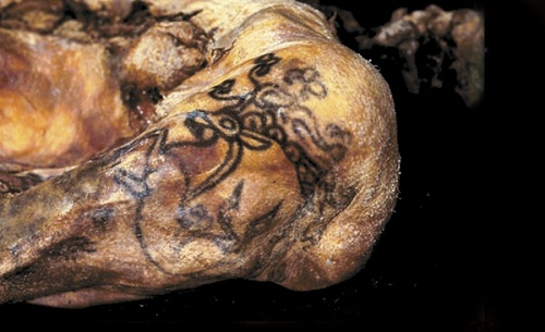 'Compared to all tattoos found by archeologists around the world, those on the mummies of the Pazyryk people are the most complicated, and the most beautiful,' said Dr Polosmak