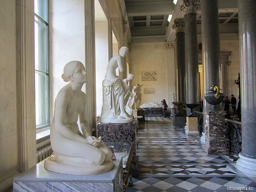 Statues. Walking through the halls of the Hermitage