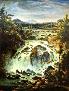Imatra Waterfall in Finland. FM Matveev