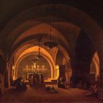 Vorob'ev, Interior of the Church of Calvary in Jerusalem, 1824