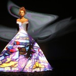 Ball dresses based on fabulous French fairy tale, Donkeyskin, by French fashion designer Franck Sorbier