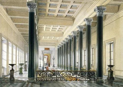 E. Hau. Interiors of the New Hermitage. The main staircase. Ground floor II