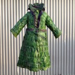 Nicole Dextras, a brilliant designer came up with a totally weird use for flowers and leafs. She used them to create dresses for those brave enough to go green all the way.